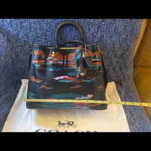 Rare Printed Coach Handbag